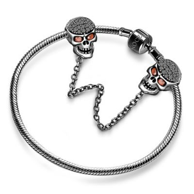 Black Skull Safety Chain