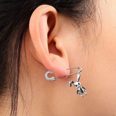 Paperclip Bunny Doll Earring